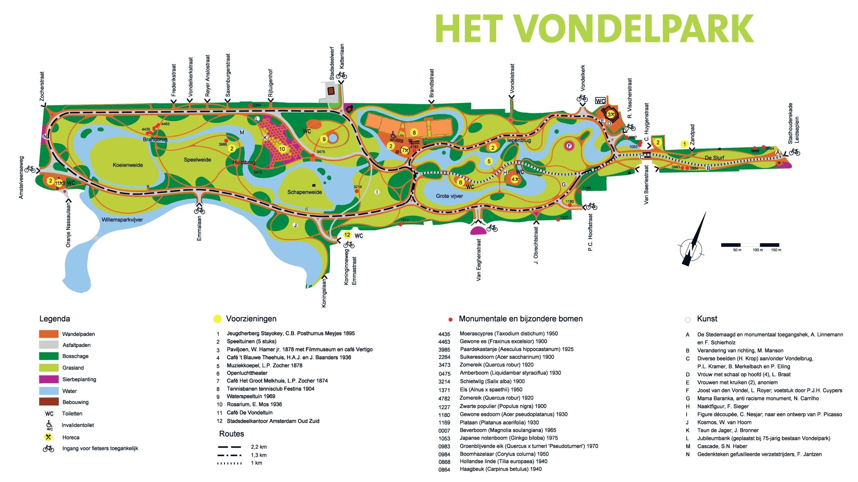 vondelpark-map